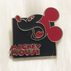 🔮 5/$25 Red & Black Mickey Mouse Scared Pin